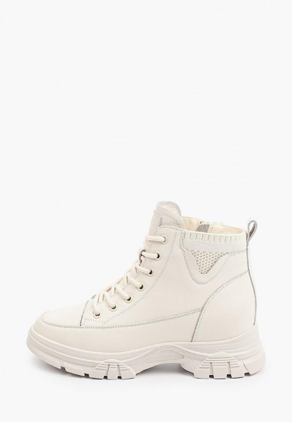 женские высокие ботинки v.i.konty, белые