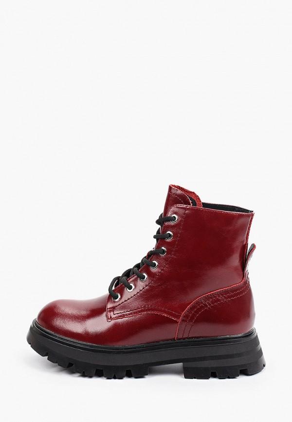женские высокие ботинки berkonty, бордовые