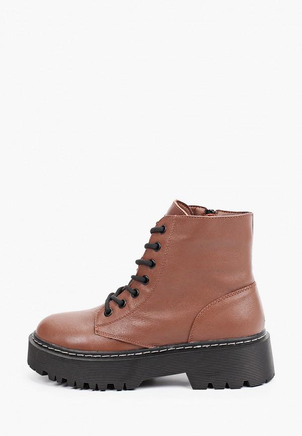 женские высокие ботинки berkonty, коричневые