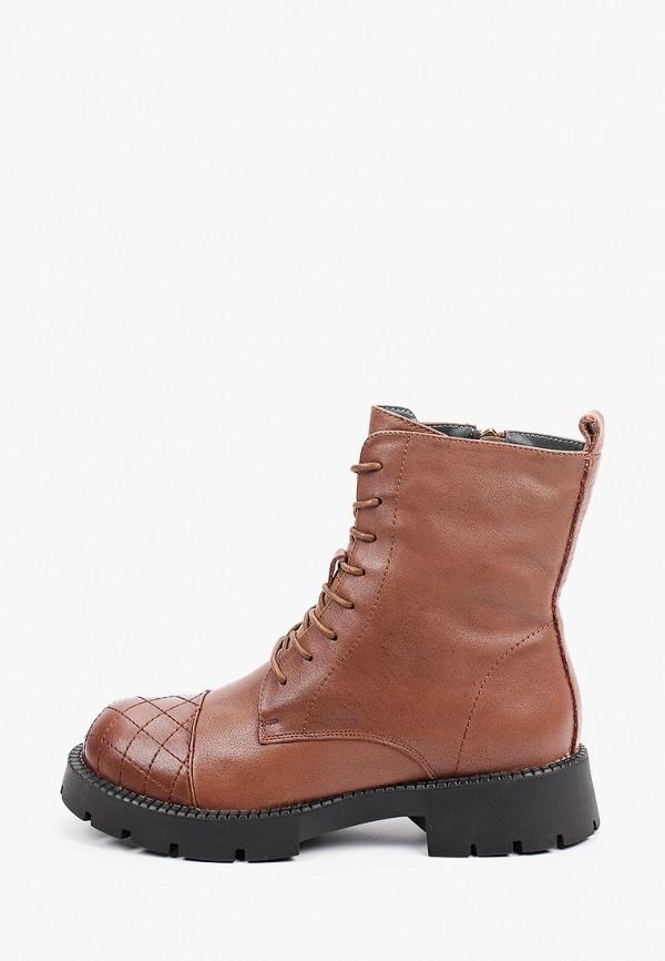 женские высокие ботинки v.i.konty, коричневые
