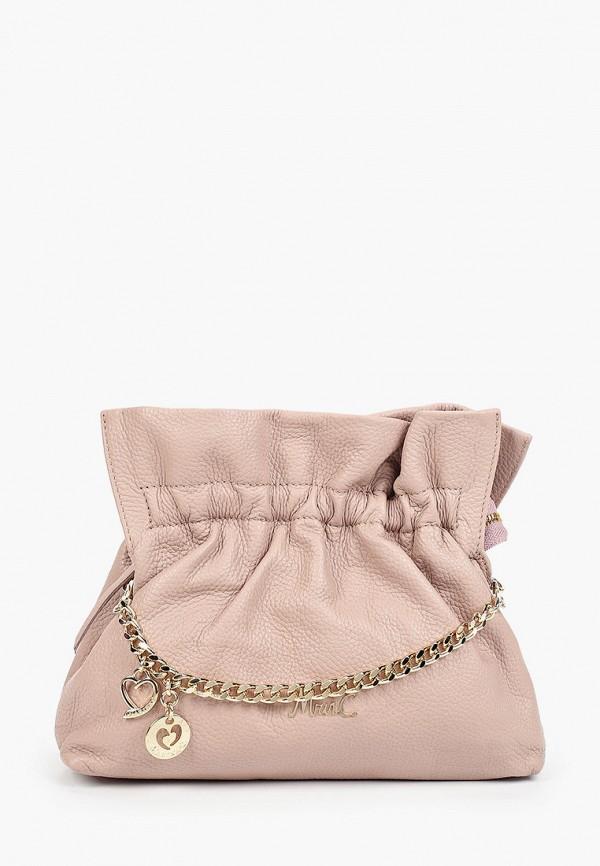 женская сумка через плечо marina creazioni, бежевая