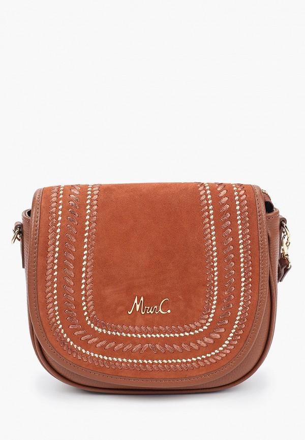 женская сумка через плечо marina creazioni, коричневая