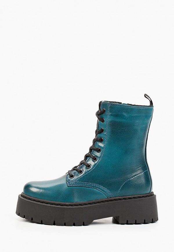 женские высокие ботинки francesco donni, бирюзовые