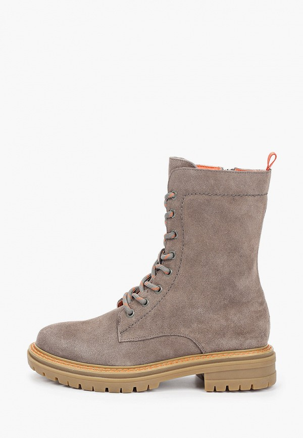 женские высокие ботинки francesco donni, серые