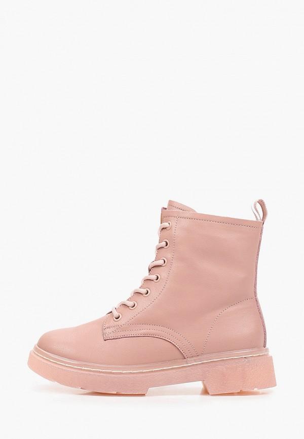 женские высокие ботинки francesco donni, розовые