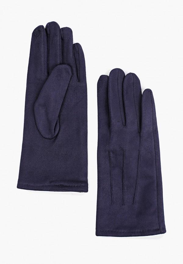 женские кожаные перчатки zolla, синие