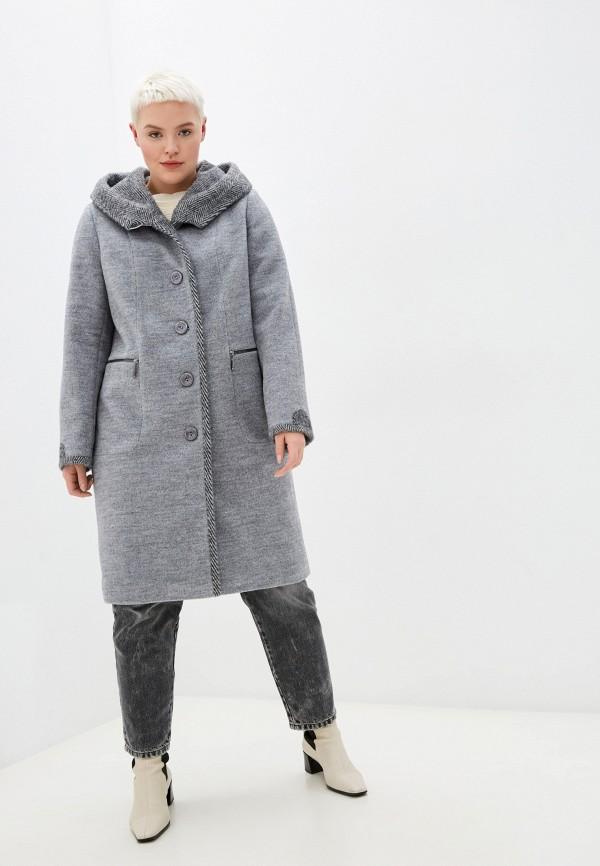 женское пальто louren wilton, серое