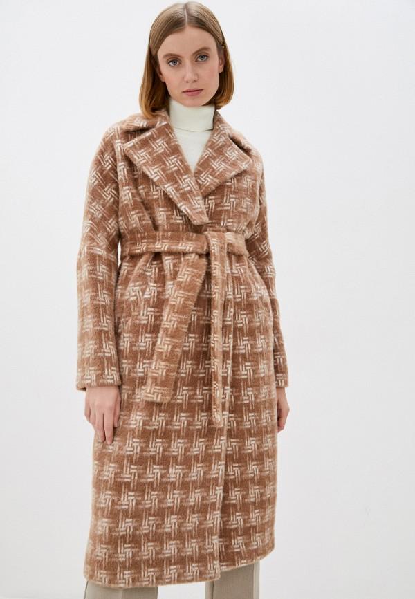 женское пальто louren wilton, коричневое