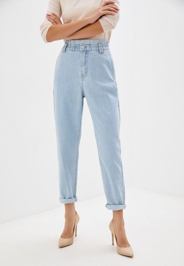 женские джинсы-мом love republic, голубые