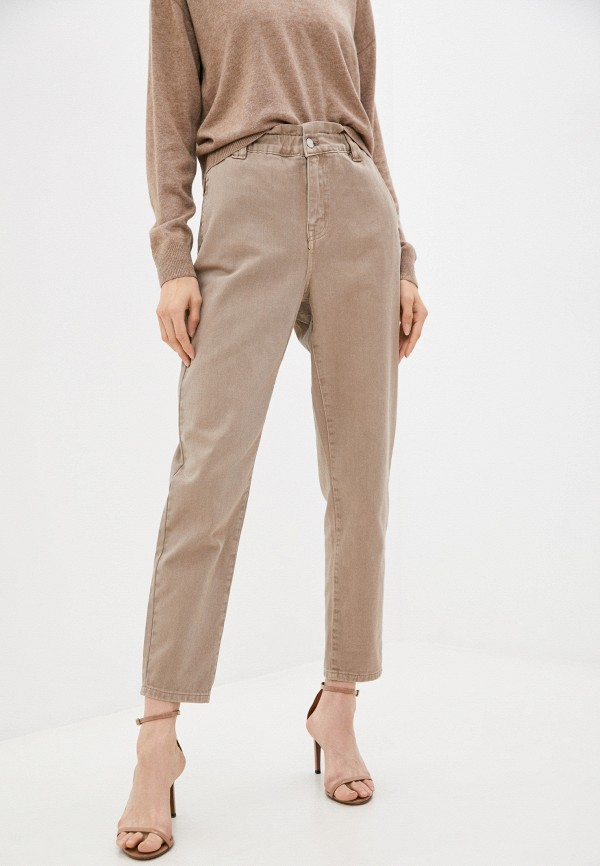 женские джинсы love republic, бежевые