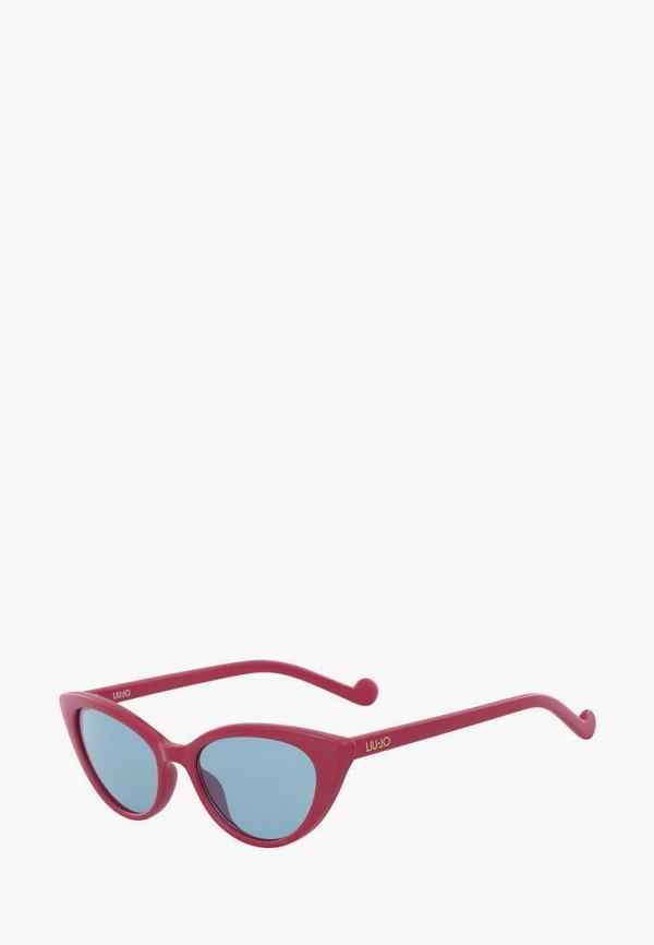 женские солнцезащитные очки кошачьи глаза liu jo, розовые