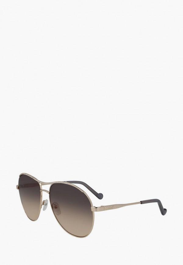 женские авиаторы солнцезащитные очки liu jo, золотые