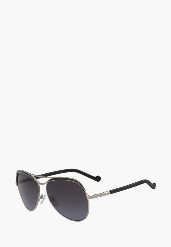 женские авиаторы солнцезащитные очки liu jo, серебряные