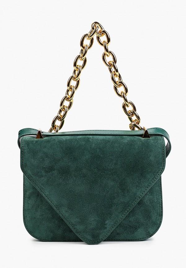 женская сумка с ручками bocciolo, зеленая