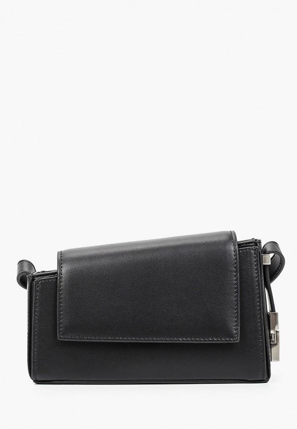 женская сумка через плечо bocciolo, черная