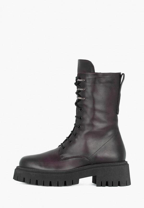 женские высокие ботинки tj collection, бордовые