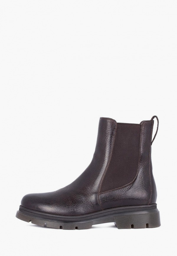 женские ботинки-челси tj collection, коричневые