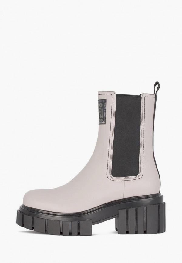 женские ботинки-челси tj collection, серые