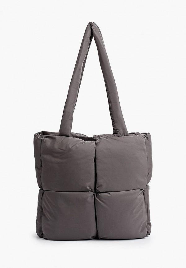 женская сумка-шоперы sela, серая