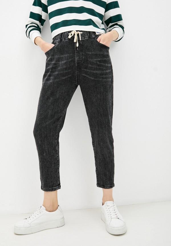 женские джинсы-мом forza viva, черные
