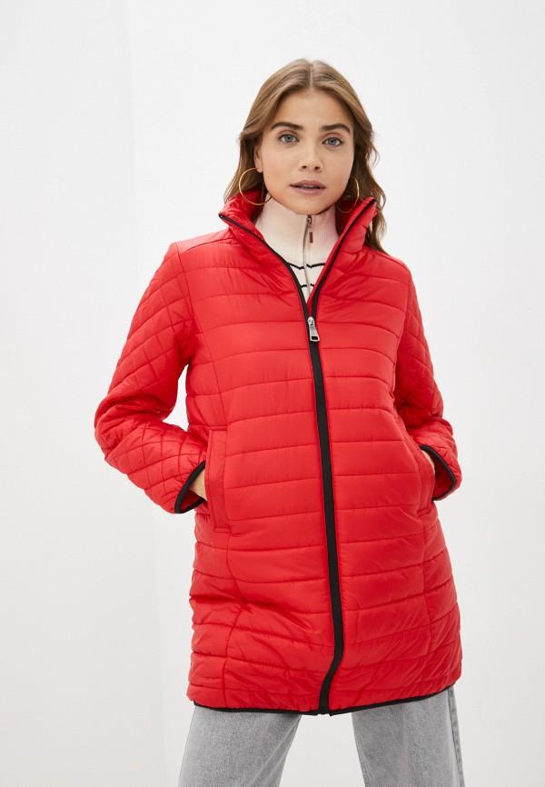 женская утепленные куртка baon, красная