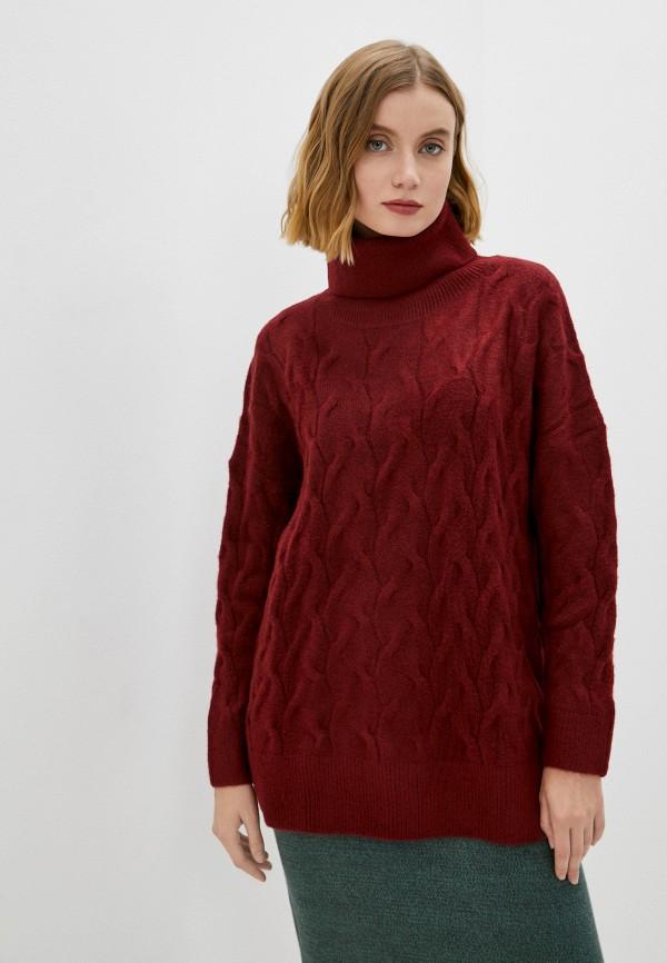 женский свитер baon, бордовый
