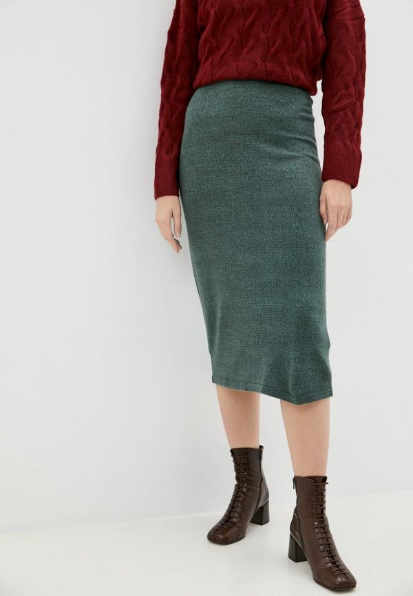 женская узкие юбка baon, бирюзовая