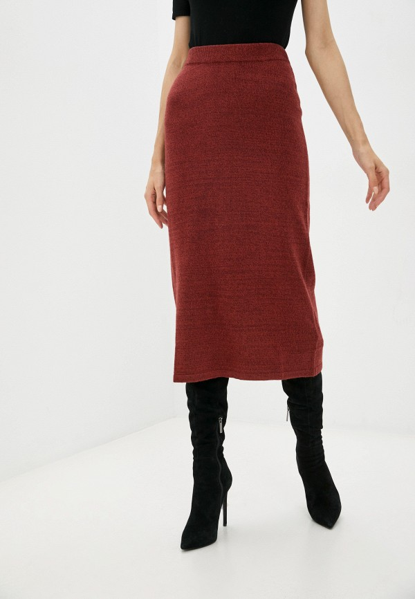 женская узкие юбка baon, бордовая