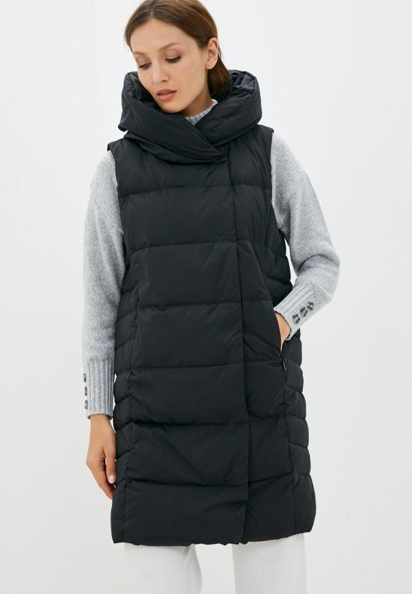 женский утепленные жилет baon, черный