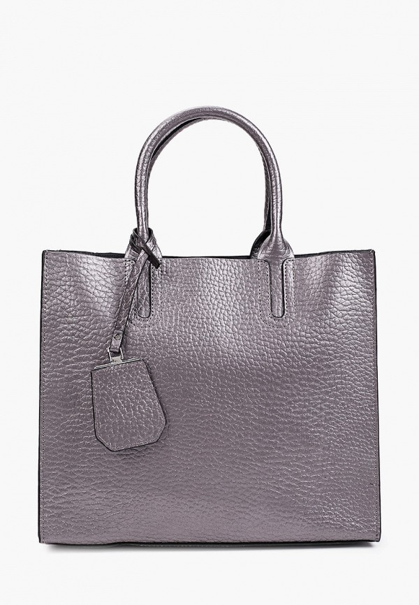 женская сумка с ручками снежная королева, серебряная