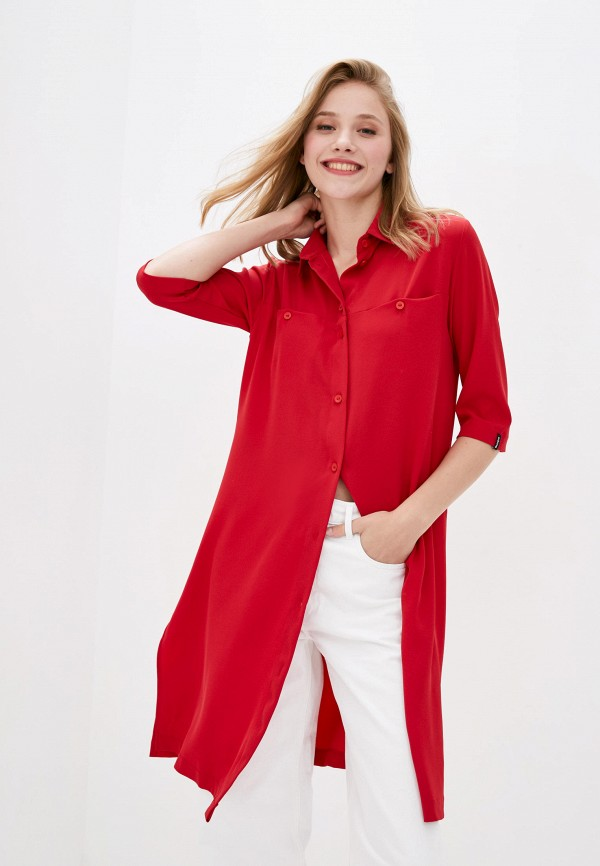 женская туника garne, красная