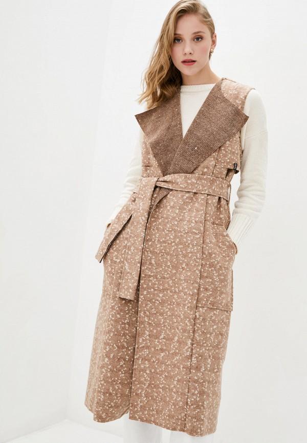 женский жилет garne, коричневый