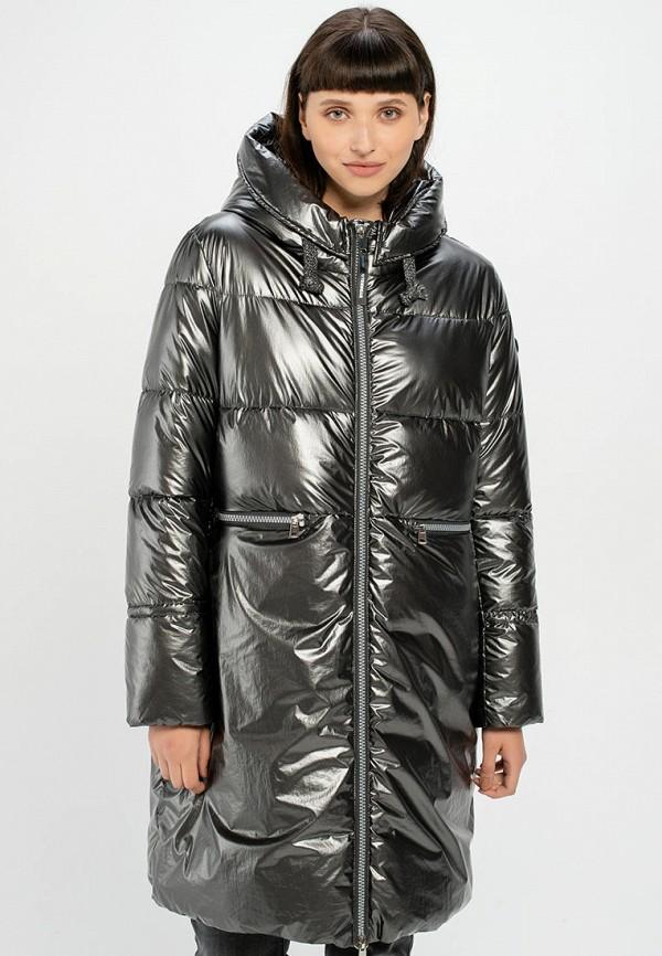 женская утепленные куртка taifun, серебряная