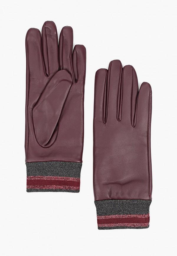 женские кожаные перчатки eleganzza, фиолетовые