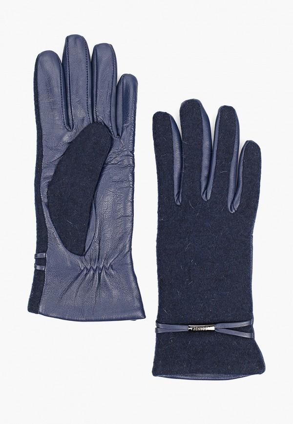 женские текстильные перчатки eleganzza, синие