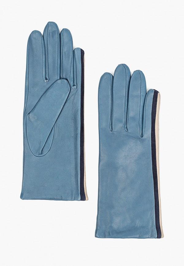 женские кожаные перчатки eleganzza, голубые