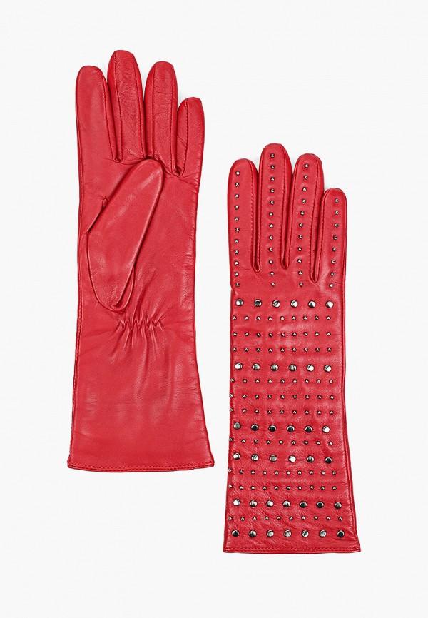 женские кожаные перчатки eleganzza, красные