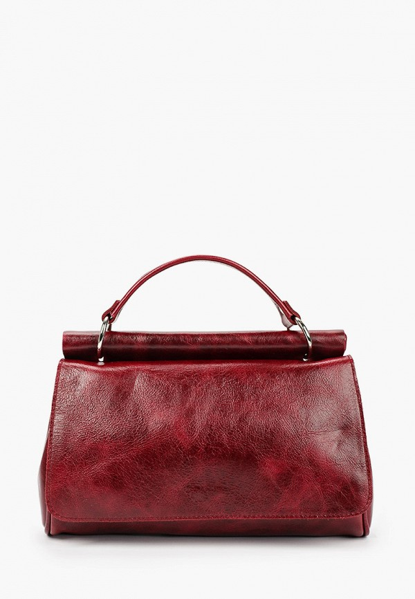 женская сумка с ручками igermann, бордовая