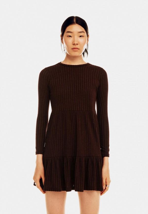 Платье Befree бордового цвета