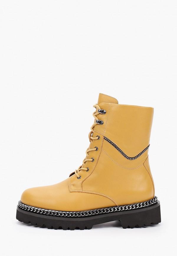 женские высокие ботинки mascotte, желтые