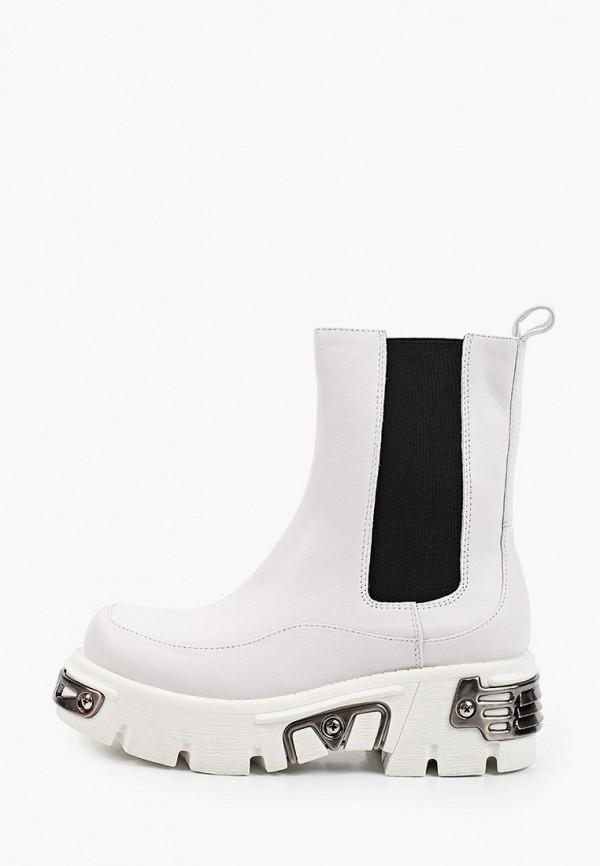 женские ботинки-челси mascotte, белые