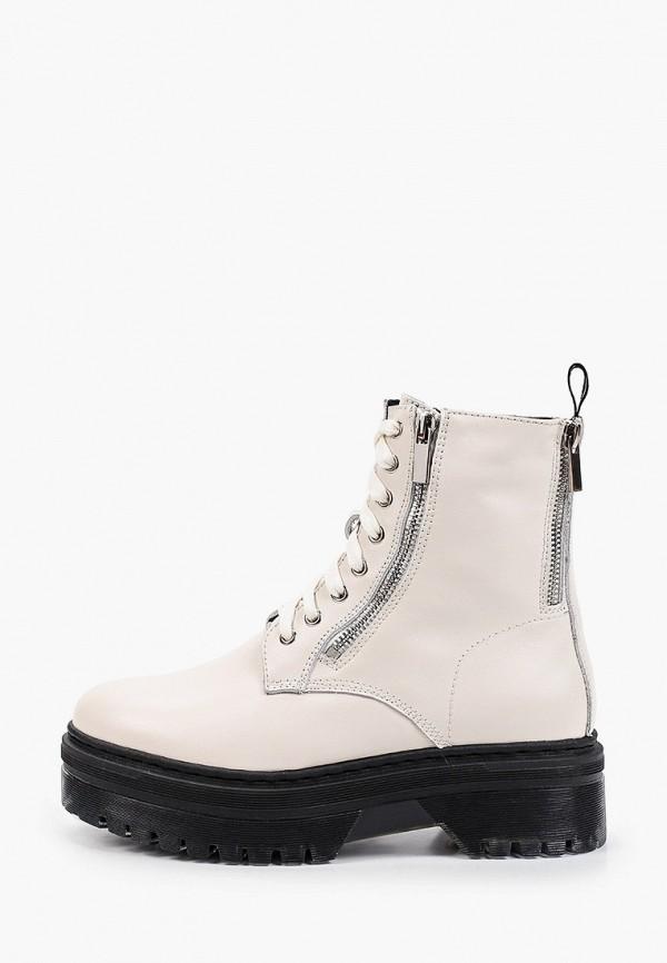 женские высокие ботинки mascotte, бежевые