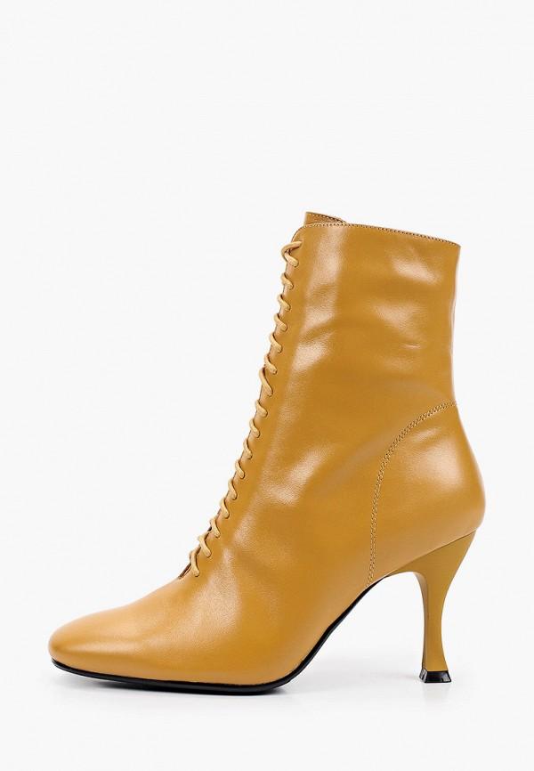 женские высокие ботильоны mascotte, желтые