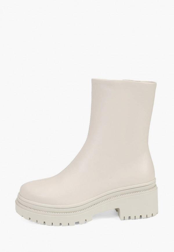 женские высокие ботинки ekonika, бежевые