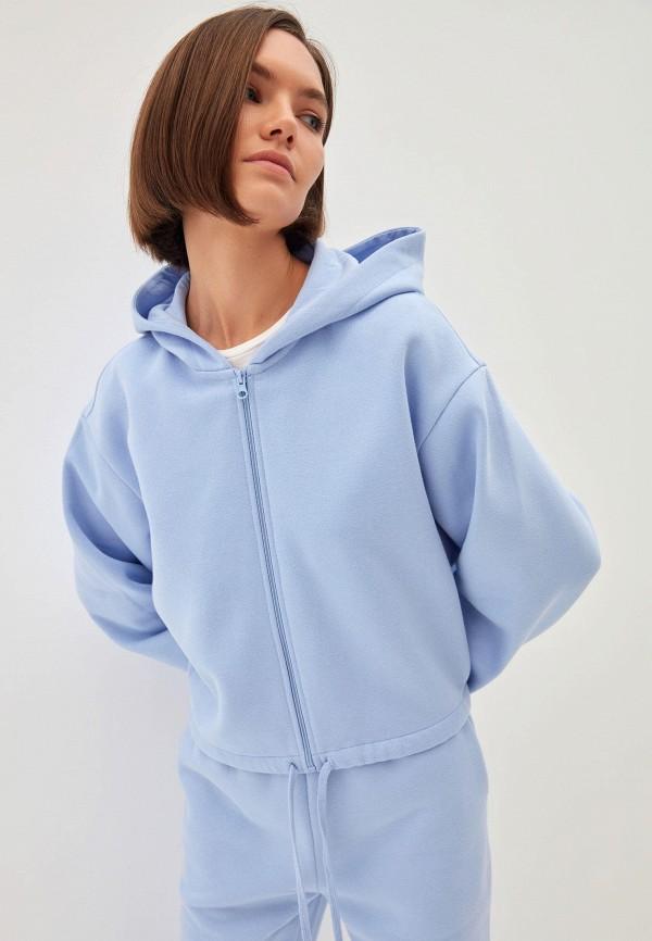 женская толстовка zarina, голубая