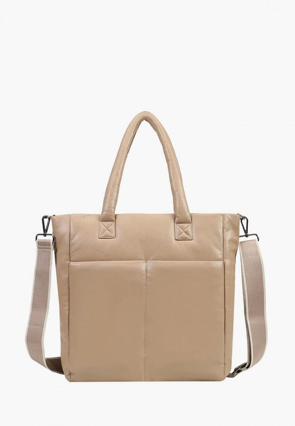 женская сумка-шоперы ekonika, бежевая