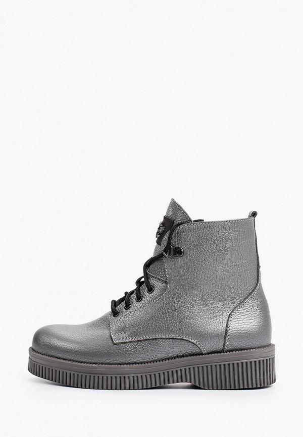 женские высокие ботинки shoiberg, серебряные