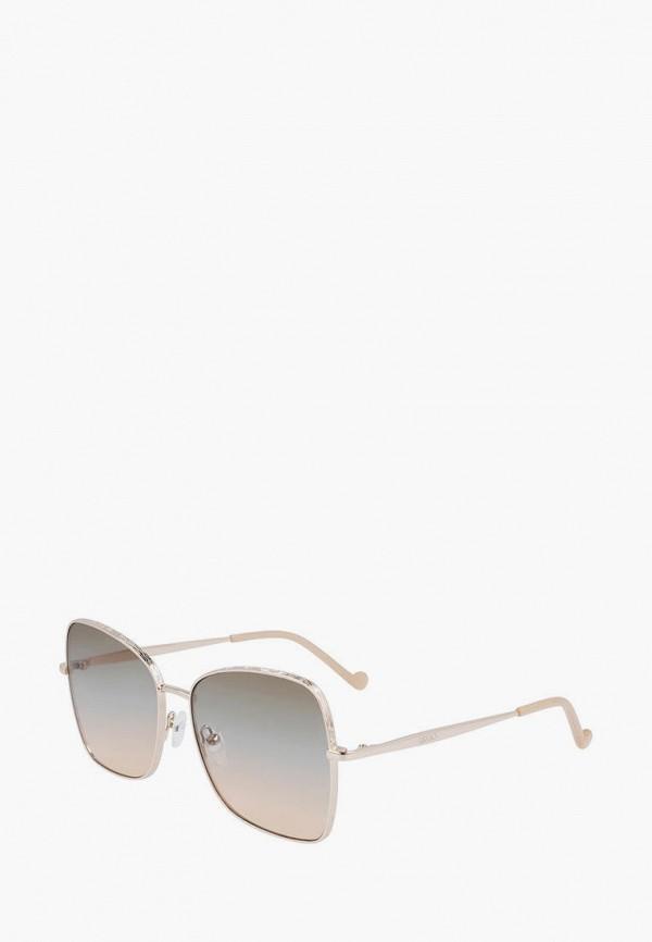 женские квадратные солнцезащитные очки liu jo, золотые