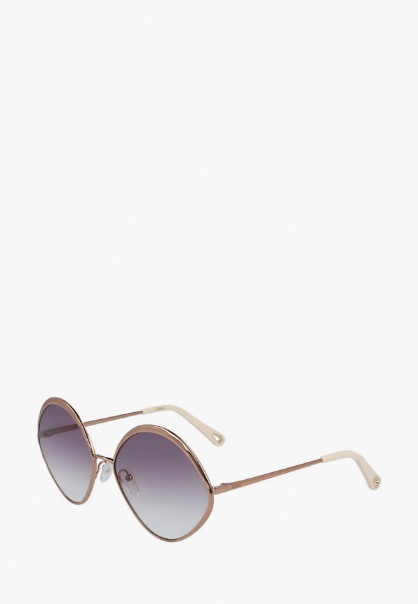 женские солнцезащитные очки chloe, золотые