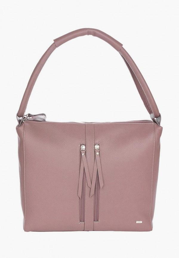 женская сумка с ручками esse, розовая